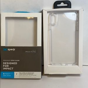 Speck presides iPhone XS Max clear hardshell case